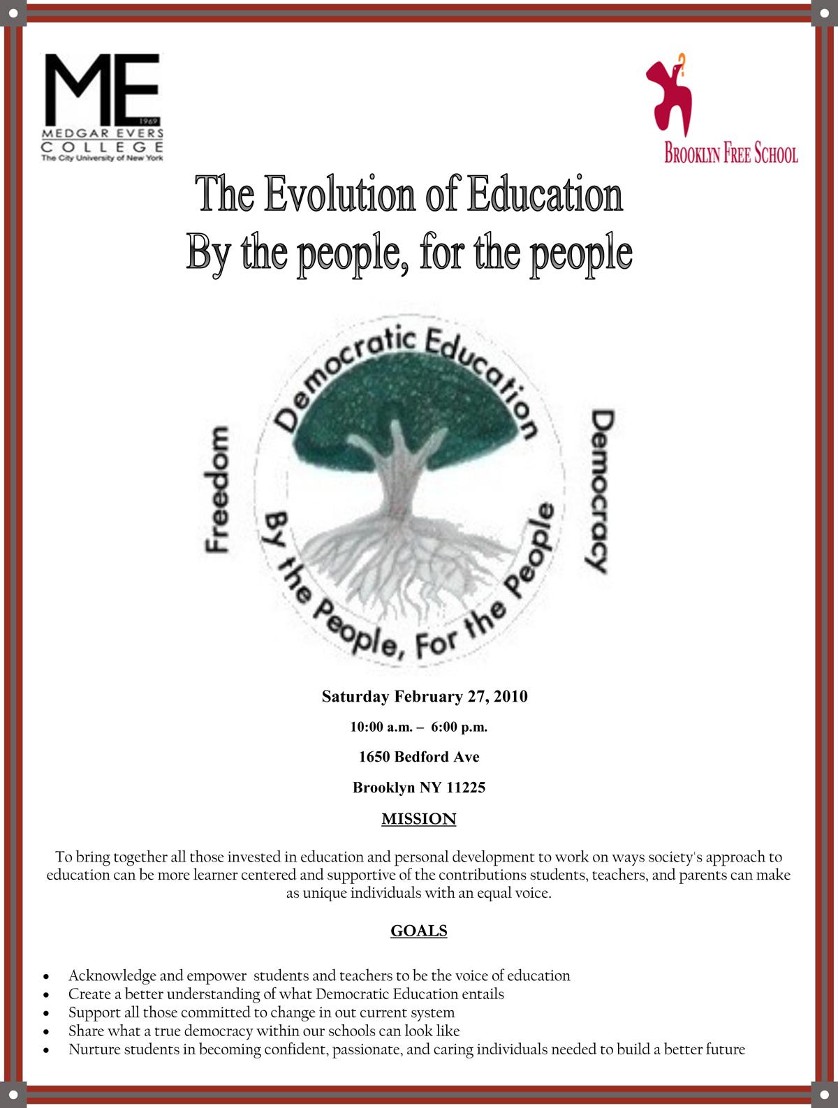 The Free School ApparentDemocratic Education Symposium ison!!