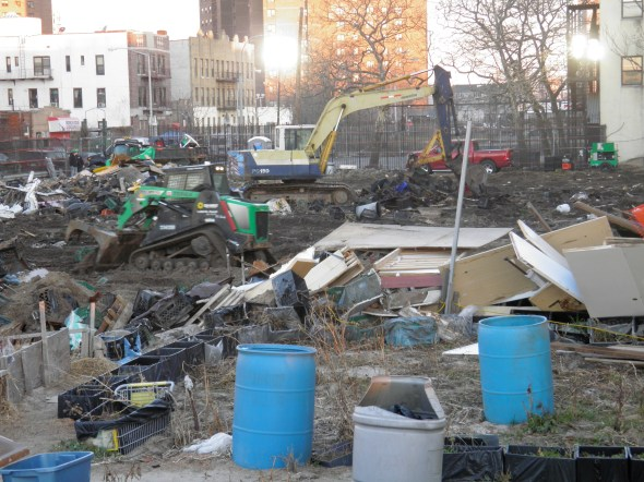 Coney Island Community Garden Bulldozed For Marty Markowitz's Amphitheater. Dec 2013